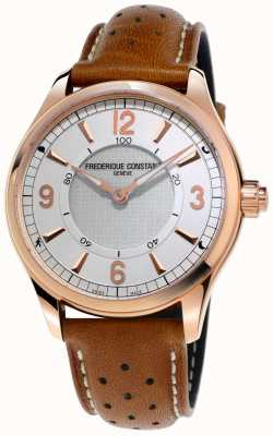 Frederique Constant Montre intelligente horlogère pour homme bracelet en cuir marron bluetooth FC-282AS5B4
