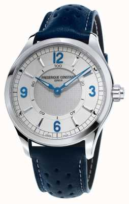 Frederique Constant Hommes horloge intelligente bluetooth bracelet en cuir bleu FC-282AS5B6