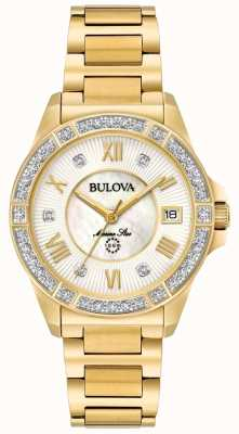 Bulova Womans ton or marine étoile 98R235