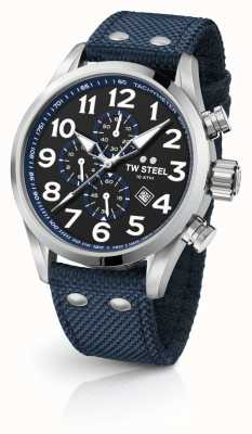 TW Steel Chronographe homme volante bleu 45mm VS33