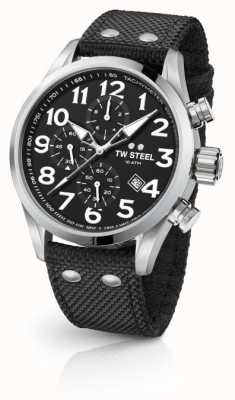 TW Steel Chronographe homme volant noir 48mm VS4