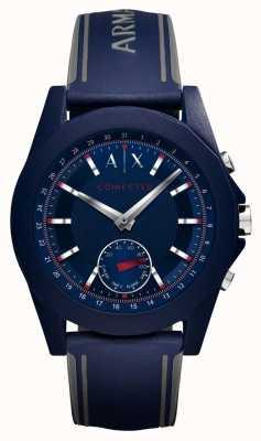Armani Exchange Bracelet en silicone bleu avec connexion intelligente AXT1002