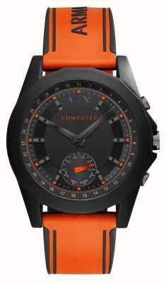 Armani Exchange Bracelet en silicone orange avec connexion intelligente AXT1003
