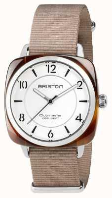 Briston Unisex clubmaster chic en acier beige avec bracelet en nato 17536.SA.T.2.NT
