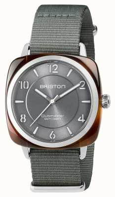 Briston Unisex clubmaster chic en acier gris avec bracelet en nato 17536.SA.T.11.NG