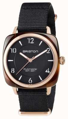 Briston Clubmaster unisexe noir acétate noir pvd or rose 17536.PRA.T.1.NB