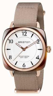 Briston Unisex clubmaster chic beige acétate pvd or rose 17536.PRA.T.2.NT