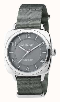 Briston Unisex clubmaster chic acier gris avec bracelet nato 17536.S.L.17.NG