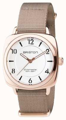 Briston Clubmaster chic acier - cadran hms or blanc 17536.SPRG.L.2.NT