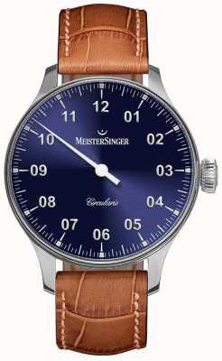 MeisterSinger Mens circularis à la main enroulé sunburst blue CC308