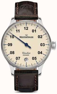 MeisterSinger Mens circularis automatique ivoire CC903