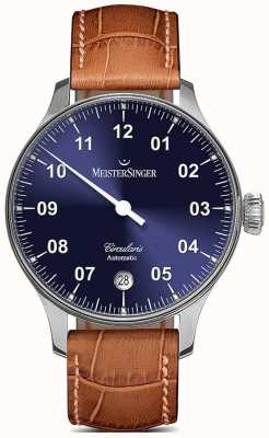MeisterSinger Mens circularis sunburst automatique bleu CC908