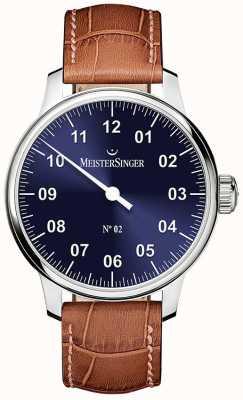 MeisterSinger Hommes classiques no. 2 brins de soleil à la main bleus AM6608N