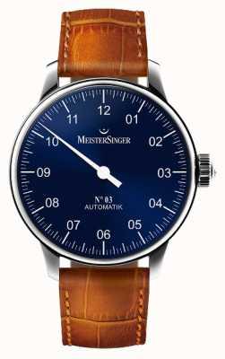 MeisterSinger Hommes classiques no. 3 sunburst automatique bleu AM908