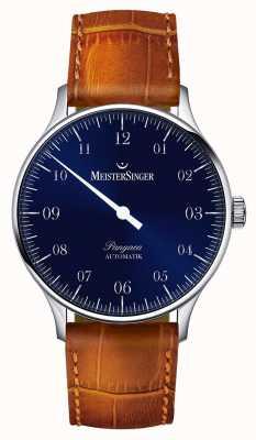 MeisterSinger Mens classique Pangea automatique bleu sunburst PM908
