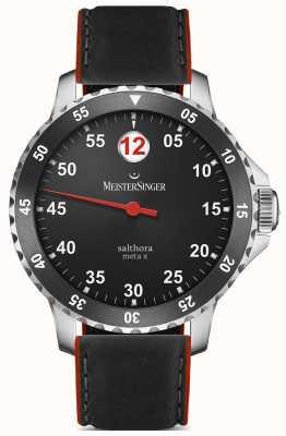 MeisterSinger Mens classic plus salthora méta x automatique noir rouge SAMX902