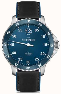 MeisterSinger Mens classic plus salthora meta x automatic blue SAMX908