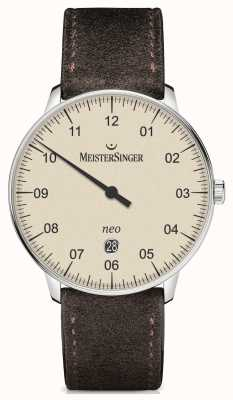 MeisterSinger Forme mensuelle et style néo plus ivoire automatique NE403