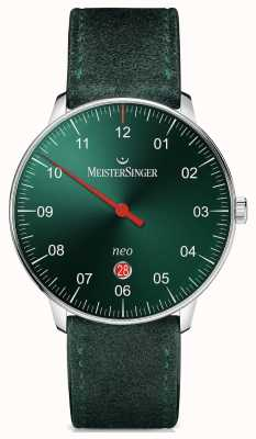 MeisterSinger Forme et style Hommes Neo plus sunburst automatique vert NE409