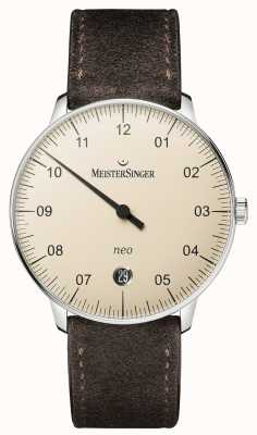 MeisterSinger Forme et style homme néo automatique ivoire NE903N
