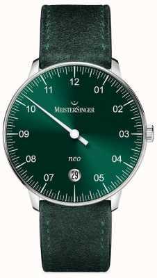MeisterSinger Forme mensuelle et style neo automatique sunburst vert NE909N