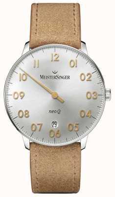 MeisterSinger Forme et style masculins neo q quarz sunburst silver NQ901GN