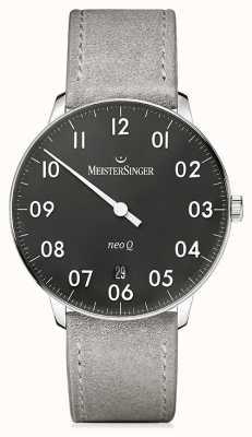 MeisterSinger Forme et style masculins neo q quarz black NQ902N