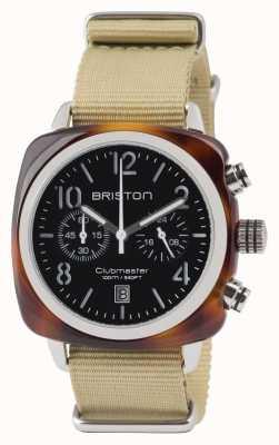 Briston Clubmaster classic acétate - chronographe écaille tortue blac 13140.SA.T.1.NK
