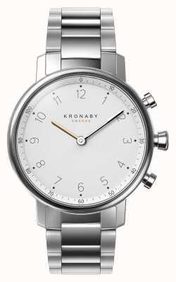 Kronaby 38mm nord bluetooth bracelet en acier inoxydable smartwatch A1000-0710