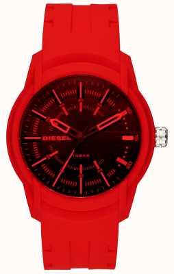 Diesel Bracelet en silicone pour homme armbar rouge DZ1820