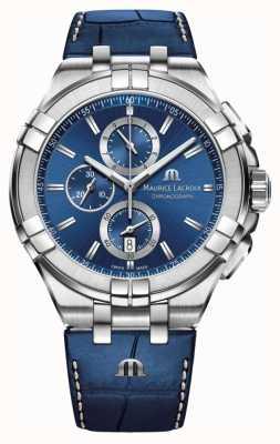 Maurice Lacroix Bracelet chronographe bleu aikon bleu pour homme AI1018-SS001-430-1