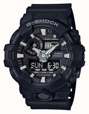 Casio Chronographe d'alarme g-shock noir pour homme GA-700-1BER