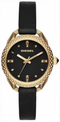 Diesel Mesdames shawty noir et or montre DZ5547