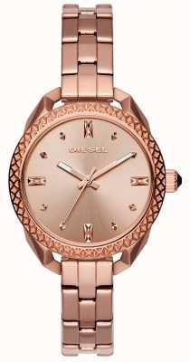 Diesel Mesdames shawty bracelet en or rose montre DZ5549