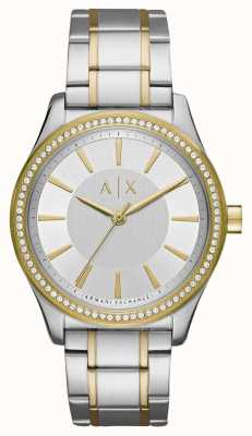 Armani Exchange Montre à deux tons nicolette pour dames AX5446