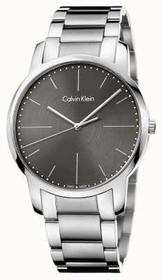 Calvin Klein Hommes bracelet en acier inoxydable cadran gris K2G2G1Z3