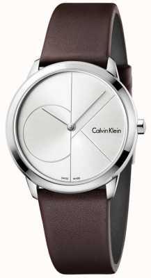 Calvin Klein Bandoulière en cuir marron minimaliste Womans K3M221G6