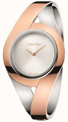 Calvin Klein Bracelet en argent en acier inoxydable à deux tons féminin s K8E2S1Z6