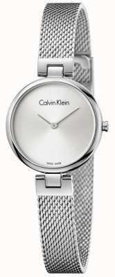 Calvin Klein Womans authentique bracelet en maille en acier inoxydable cadran argenté K8G23126