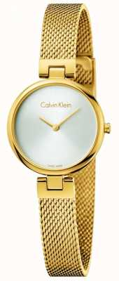 Calvin Klein Womans authentique pvd bracelet en maille en acier plaqué or K8G23526