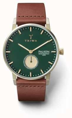 Triwa Cadran vert en cuir marron brun FAST112-CL010217