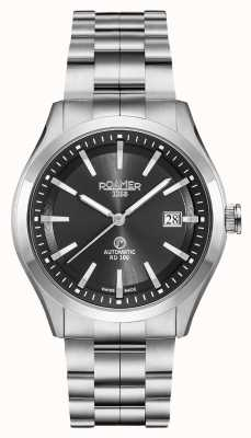 Roamer Rd100 automatique | bracelet en acier inoxydable | cadran noir 951660-41-55-90