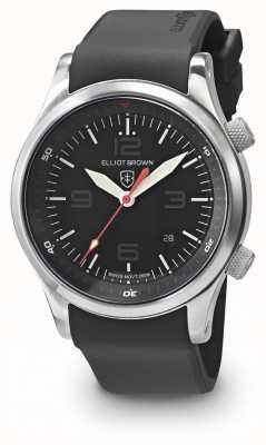 Elliot Brown Bracelet en caoutchouc noir noir canford noir 202-020-R01