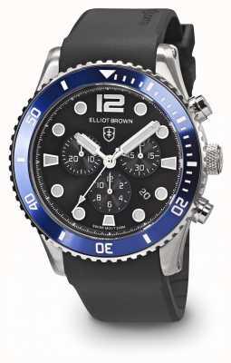 Elliot Brown Bracelet en caoutchouc noir et bleu noir bloxworth 929-012-R01