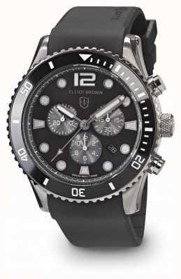 Elliot Brown Bracelet en caoutchouc noir et gris noir pour homme 929-010-R09