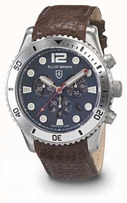 Elliot Brown Bracelet en cuir huil noir et gris pour homme bloxworth 929-015-L16