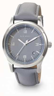 Elliot Brown Bracelet en cuir gris foncé gris kimmeridge pour femme 405-004-L56