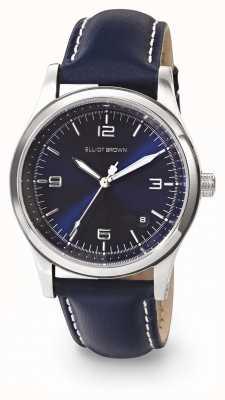 Elliot Brown Bracelet en cuir huilé bleu kimmeridge pour femme 405-003-L52