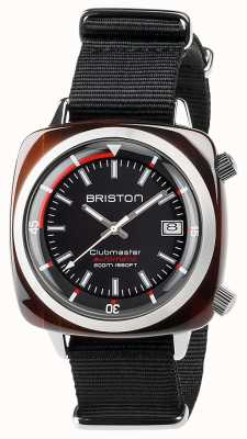 Briston Unisexe clubmaster diver tortue shell acétate noir auto 17642.SA.TD.1.NB