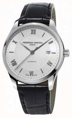 Frederique Constant Bracelet en cuir noir automatique pour homme Classics Index FC-303MS5B6